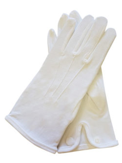 Mens Formalwear White Gloves