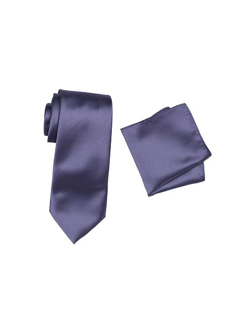 Hire Satin Hank & Tie set Lilac