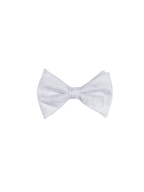 Mens Silk Bow Tie White