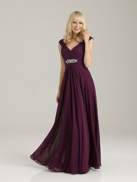 1334 Allure Bridesmaid Dress With Ruched Chiffon Gathering