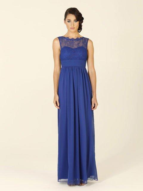 Po34 Tania Olsen Bridesmaid Dress Has A Lace High Cut