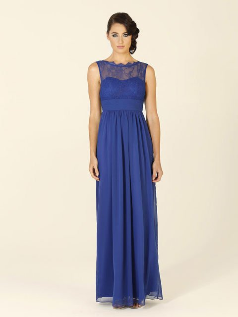 Po34 Tania Olsen Bridesmaid Dress Has A Lace High Cut