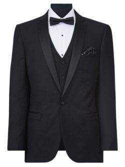 tailored fit one button dinner jacket