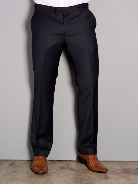 Mens Tailored Fit Flat Front Trouser