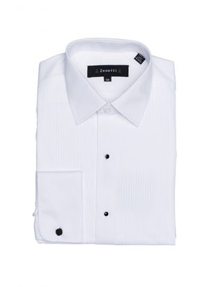 Mens Tailored Black Studded White Shirt