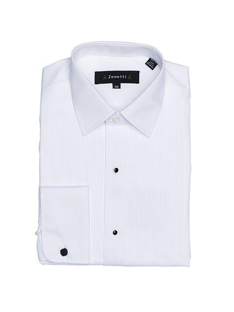 Mens Tailored Black Studded White Shirt