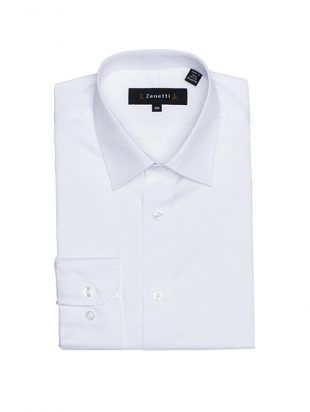 Mens Spread Collar Shirt White