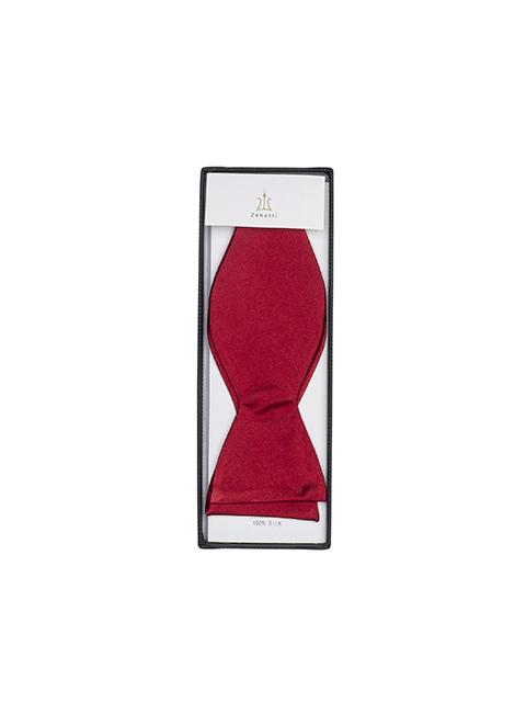 Zenetti silk bow tie red