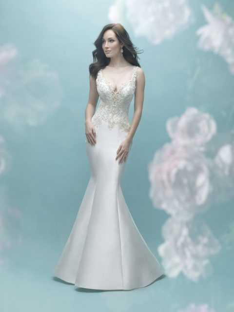 Illusion back mermaid gown allure 9465