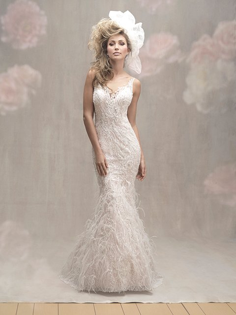 crystals and feathers allure couture C457