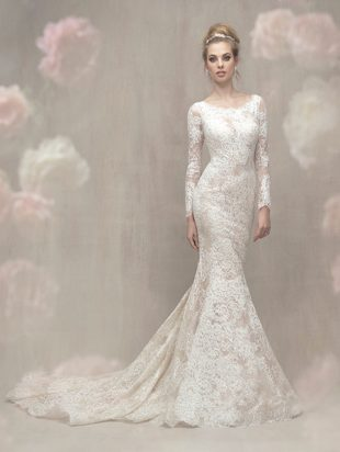 lace gown shimmers allure couture c459