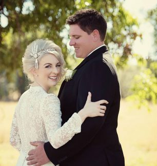 emma drew ferrari bridal real wedding