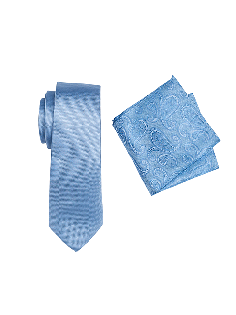 Zenetti silk tie and hank box set Blue