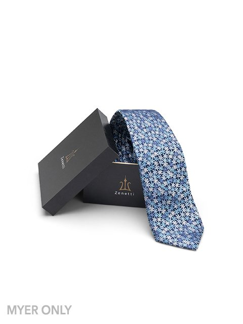Blue Long Tie and Hank Set - Myer Only