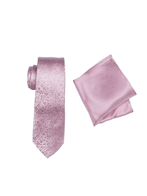 ZTH041_PINK tie and hank set