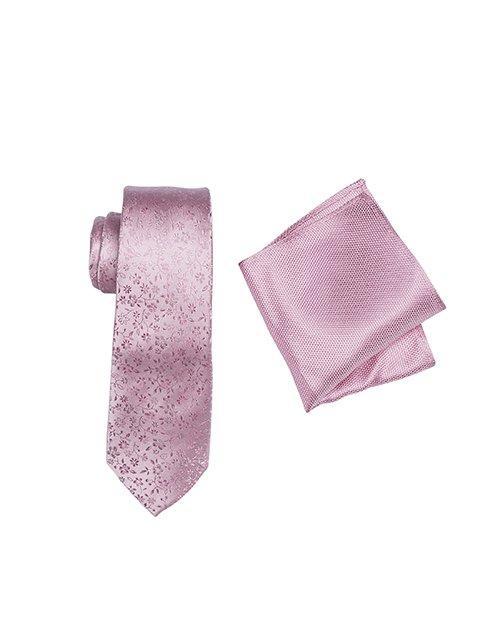 ZTH041_PINK tie and hank set