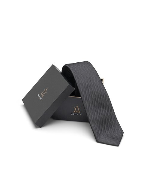 Zenetti silk tie and hank box set Black