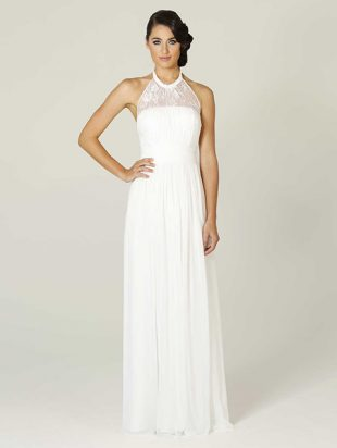 PO33 Tania Olsen White Debutante Dress