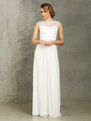 PO34 Tania Olsen White Debutante Dress