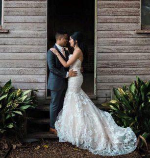 emeline shane ferrari formalwear & bridal real wedding rustic