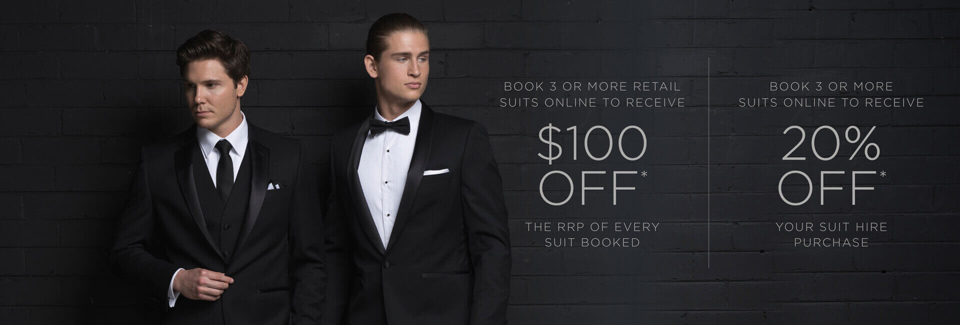 Formalwear Suit Offer