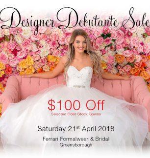 Debutante Designer Sale
