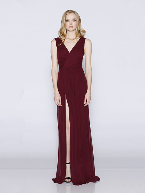 LD1070 Les Demoiselles Bridesmaid Dress Wine