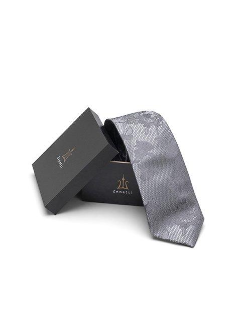 Zenetti silk tie and Pocket Square box set Black