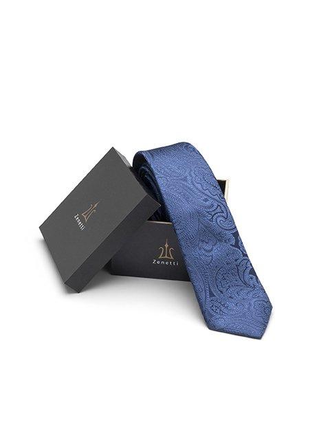 Zenetti silk tie and hank box set Navy