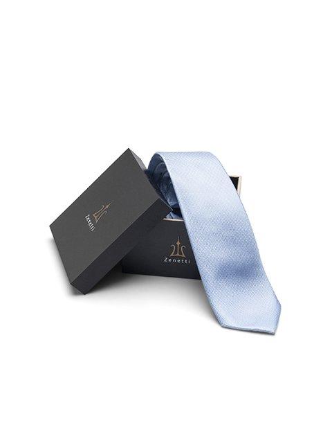 Zenetti silk tie and hank box set Blue