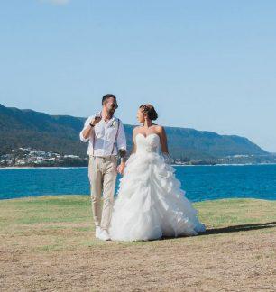 rustic beach real wedding ferrari formalwear and bridal