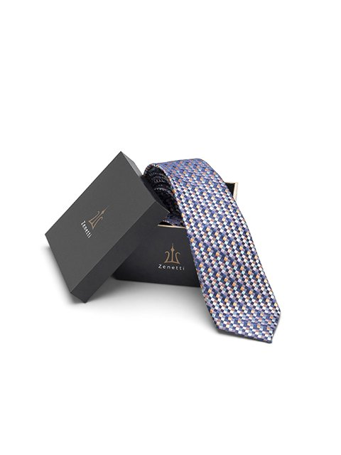 Zenetti NAVY Long Tie and Hank Set