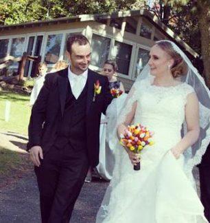 jimmy lisa ferrari formalwear bridal real wedding autumn