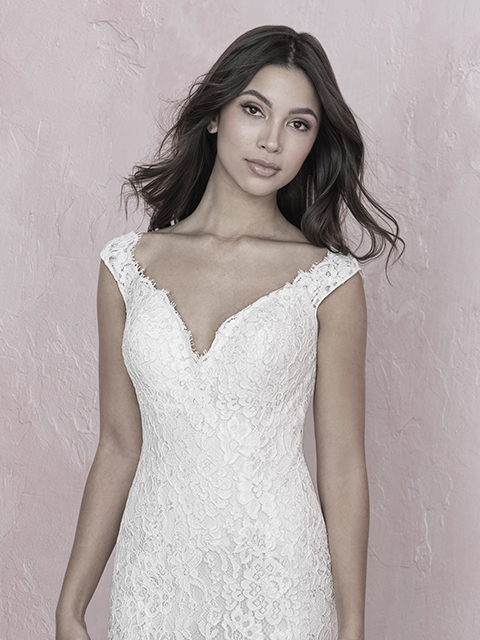 3259 Allure Romance Bridal Gown With Cap Sleeves