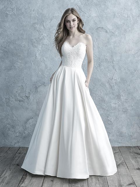 9677 Allure Bridals Mikado Wedding Dress