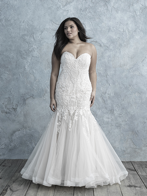 W451 Allure Women Textured Lace Bridal Gown