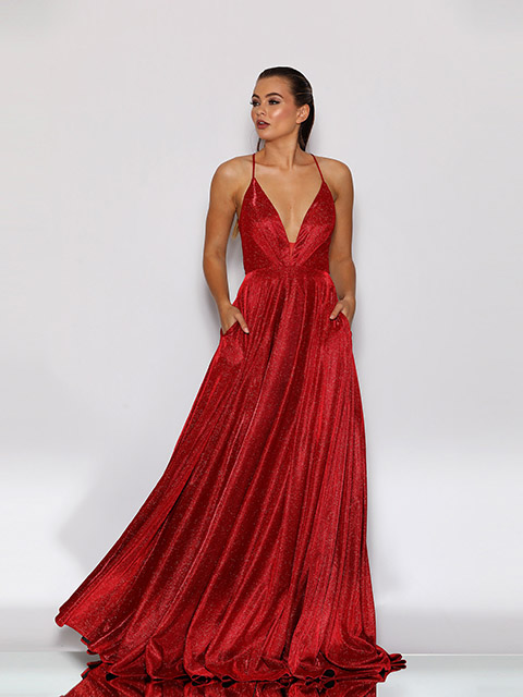 JX2106 Jadore Red Special Occassion Dress