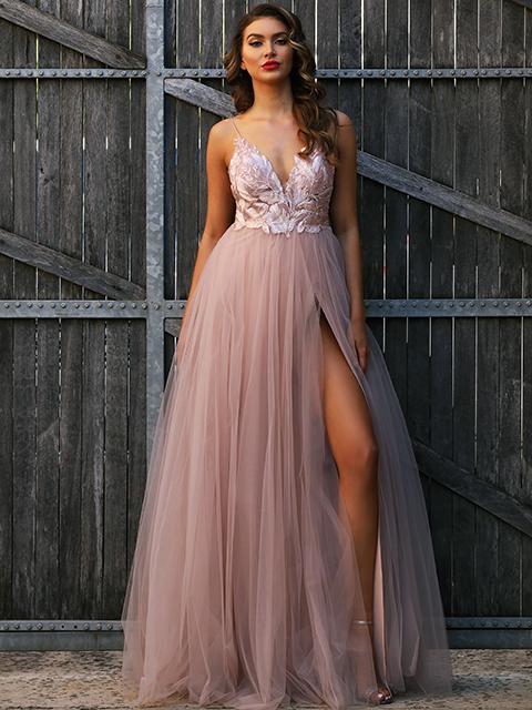 JX3004 Jadore Evening GownChampagne (10) Jadore Pink Evening Gown