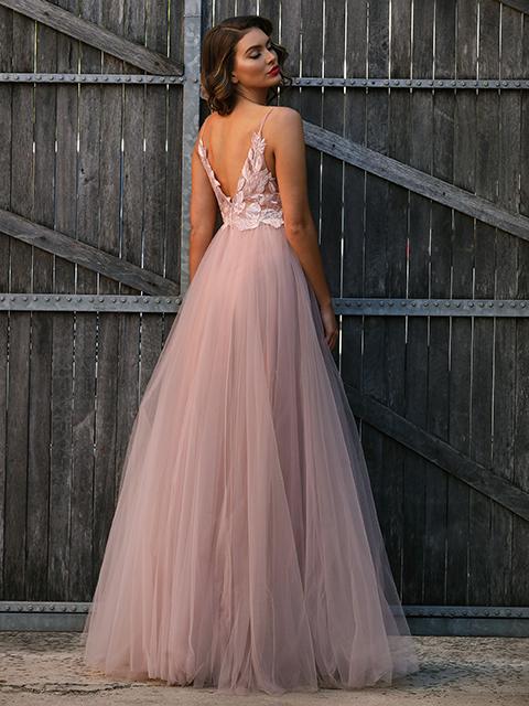 JX3004 Jadore Evening GownChampagne (10) Jadore Pink Evening Dress