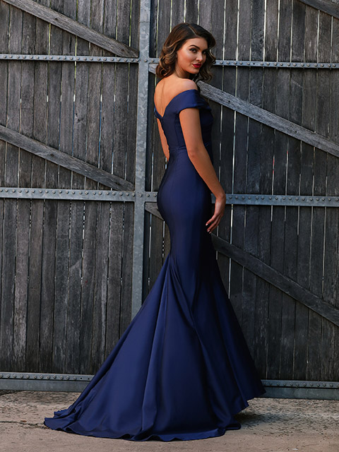 JX3020 Jadore Navy Special Occassion Gown