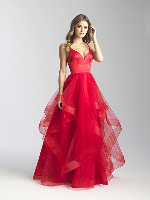 20-328 Madison James Red Special Occasion Gown
