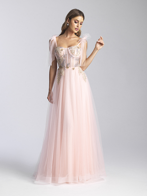 20-343 Madison James Blush Special Occasion Gown