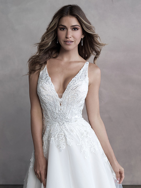 Allure Bridals 9800 Beautifully Classic Gown and Gorgeous Train