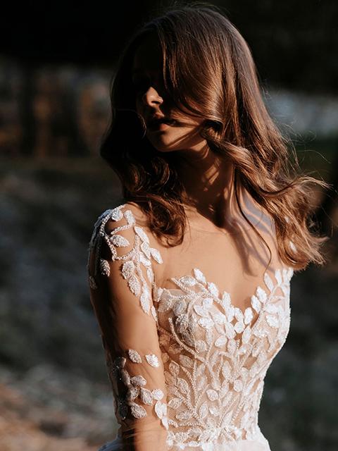 Abella E159 Appliquéd Detail Beadwork Bodice Wedding Dress